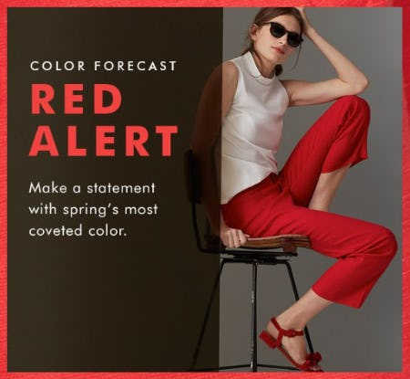 Red—Spring's Most Coveted Color from Banana Republic