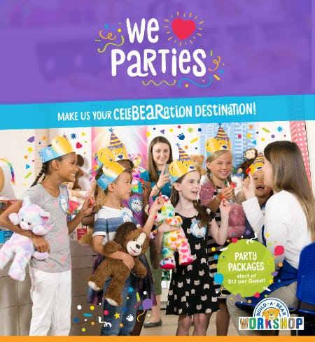 Make Build-A-Bear Workshop® Your CeleBEARation™  Destination! from Build-A-Bear Workshop