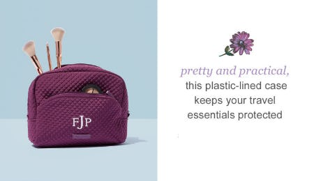 Iconic Large Cosmetic in Gloxinia Purple from Vera Bradley