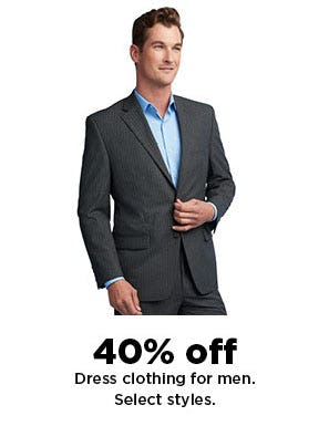 40% Off Dress Clothing for Men from Kohl's