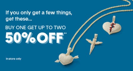 Buy One Get Up To Two 50% Off from Piercing Pagoda