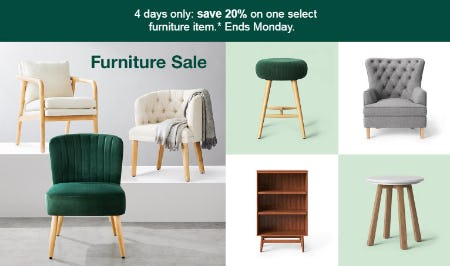 20% Off Furniture Sale