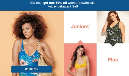 BOGO 50% Off Women's Swimsuits from Target