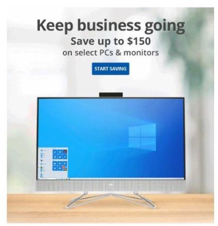 Up to $150 Off Select PCs & Monitors