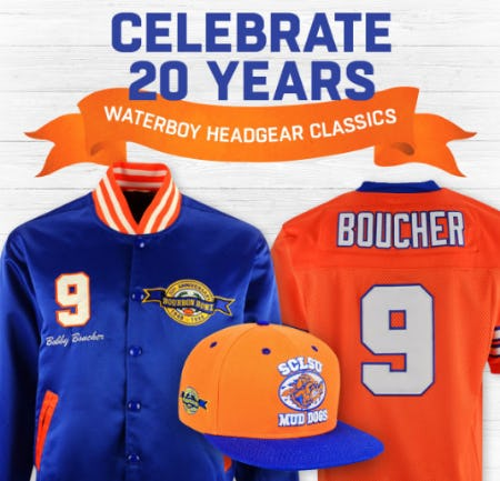Celebrate 20 Years with Waterboy Headgear Classics from Lids
