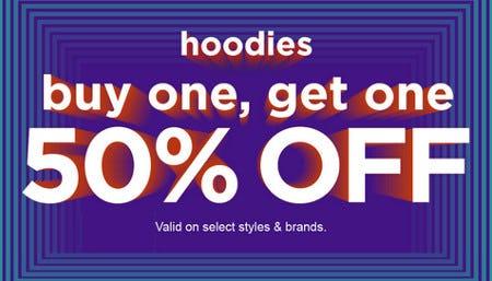 Hoodies Buy One, Get One 50% Off