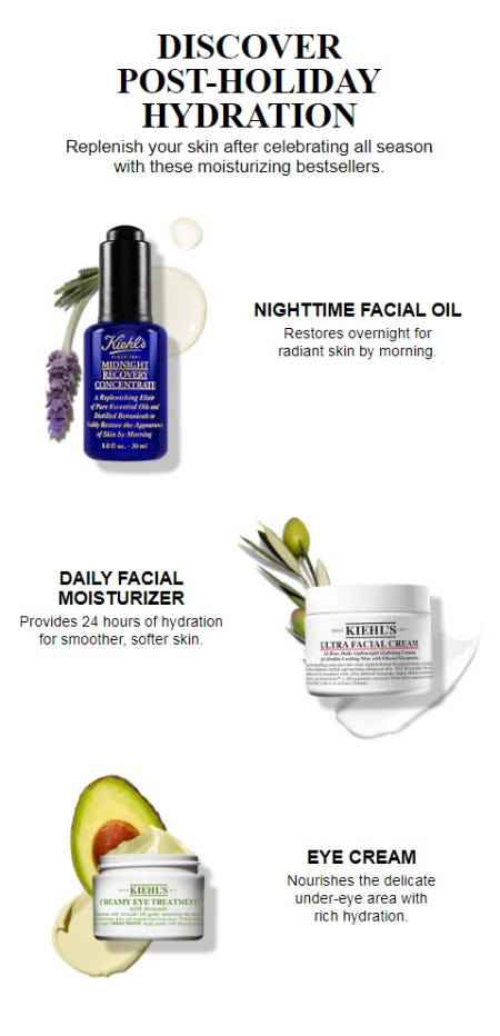 Discover Post-Holiday Hydration from Kiehl's