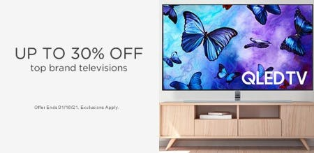 Up to 30% Off Top Brand Televisions from Sears