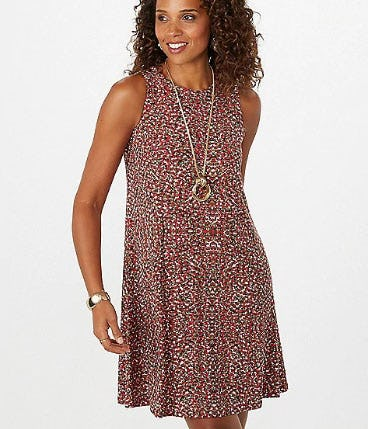 Printed Sleeveless Dress from Dress Barn, Misses And Woman