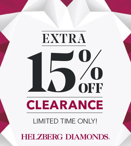 Extra 15% Off Clearance from Helzberg Diamonds