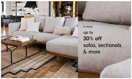 Up to 30% Off Sofas, Sectionals & More from West Elm