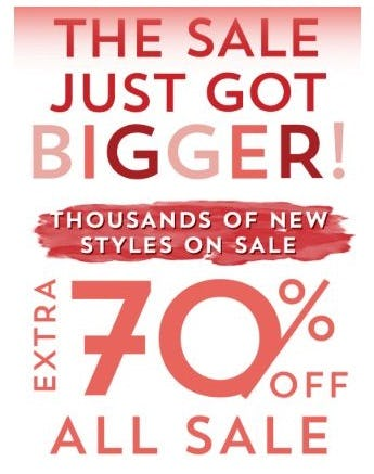 Extra 70% Off All Sale from Altar'd State