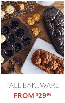 Fall Bakeware from $29.96 from Sur La Table