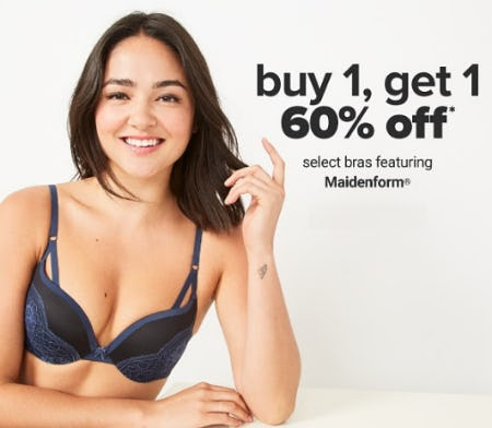 B1G1 60% Off on Select Bras from Belk