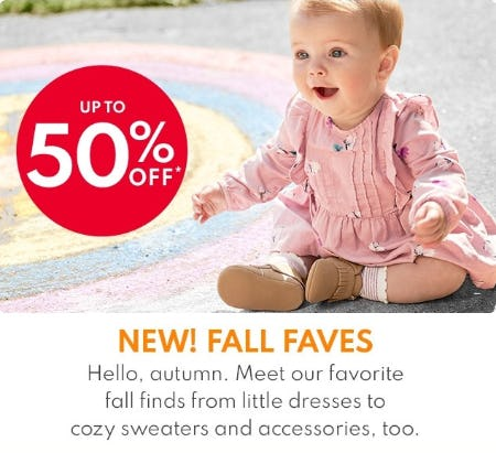 Up to 50% Off New Fall Faves from Carter's