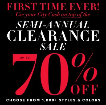Semi-Annual Clearance Sale: Up to 70% Off from New York & Company