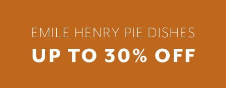 Emile Henry Pie Dishes Up to 30% Off from Sur La Table