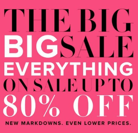 Everything on Sale up to 80% Off