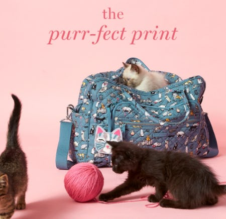 The Purr-Fect Print from Vera Bradley