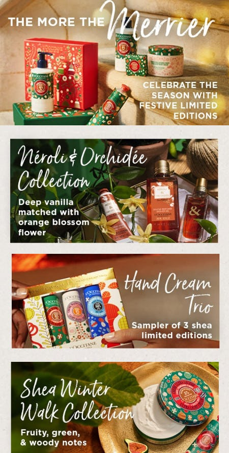 Meet the New Holiday Shea Collections from L'Occitane