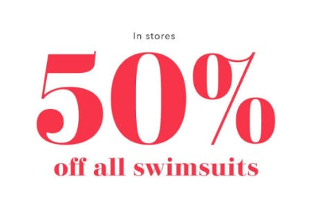 50% Off All Swimsuits from Aerie