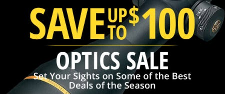 Save Up to $100 on Our Optic Sale from Cabela's
