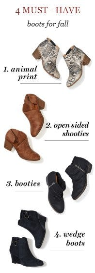 4 Must-Have Boots for Fall