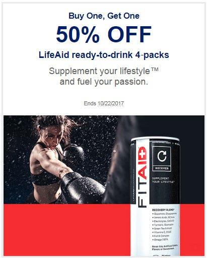 BOGO 50% Off LifeAid Ready-To-Drink 4-Packs