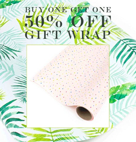 BOGO 50% Off Gift Wrap from PAPYRUS