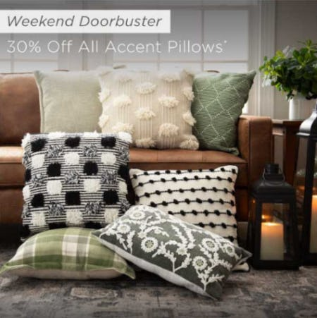 30% Off All Accent Pillows from Kirkland's