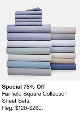 75% Off Fairfield Square Collection Sheet Sets from macy's Men's & Home