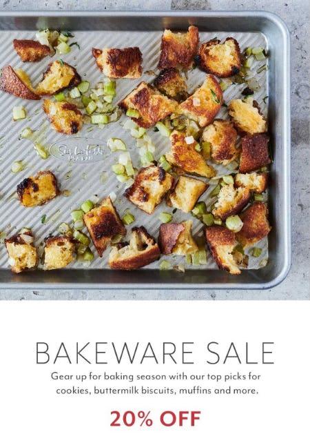 20% Off Bakeware Sale from Sur La Table
