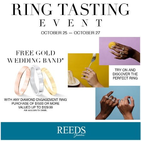 RING TASTING EVENT from Reeds Jewelers