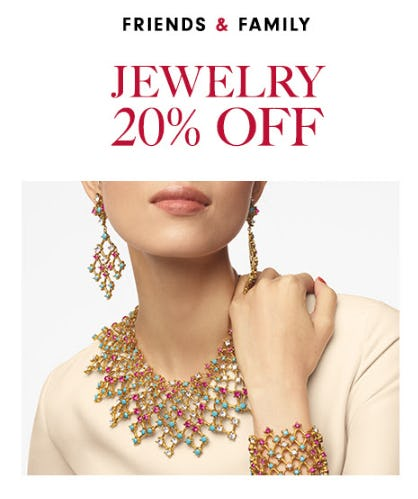 Friends & Family: 25% Off Jewelry from Neiman Marcus