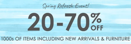 Spring Refresh Event from Pottery Barn Kids