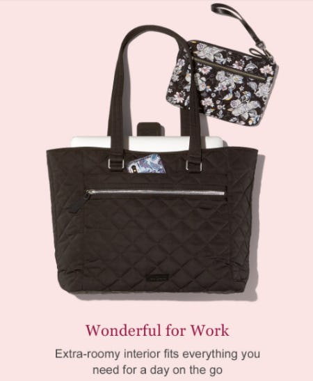 The Iconic Work Tote from Vera Bradley