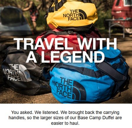 The Iconic Base Camp Duffel from The North Face