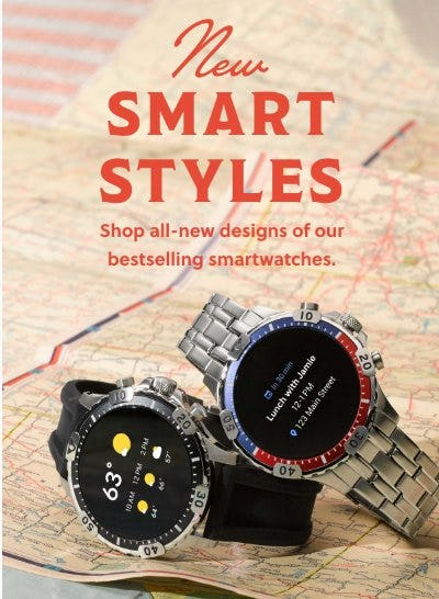 New! Gen 5 & Hybrid HR Styles from Fossil
