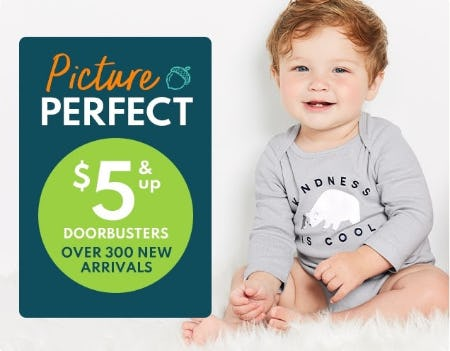$5 & Up Doorbusters Over 300 New Arrivals from Carter's