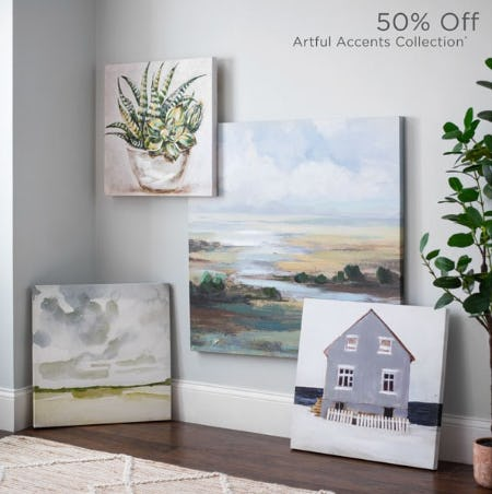50% Off Artful Accents Collection