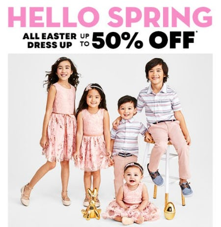 Up to 50% Off All Easter Dress Up from The Children's Place
