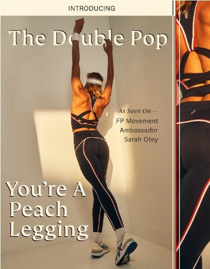Introducing: The Double Pop You're A Peach Legging