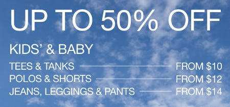 Kids' & Baby Styles from $10 from Gap