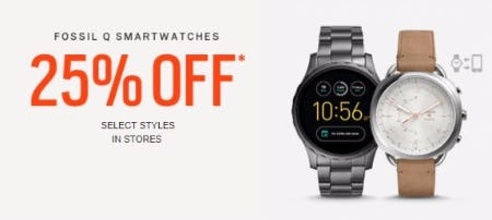 25% Off Fossil Q Smartwatches