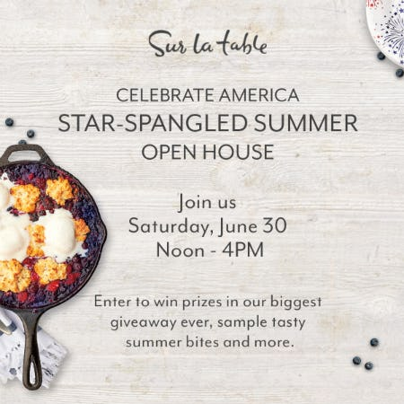 Sur La Table Star-Spangled Summer Open House