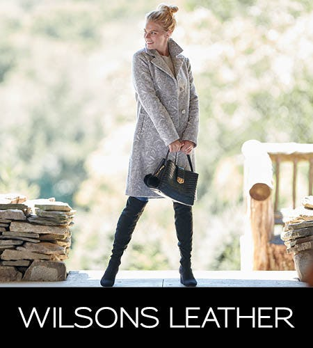 Holiday Blowout! Up to 80% Off Comparable Value from Wilsons Leather