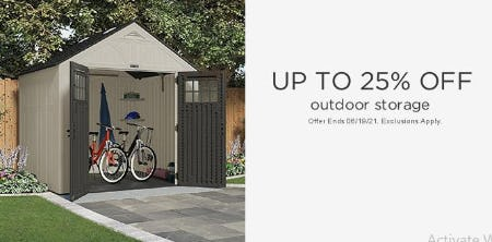 Up to 25% Off Outdoor Storage from Sears