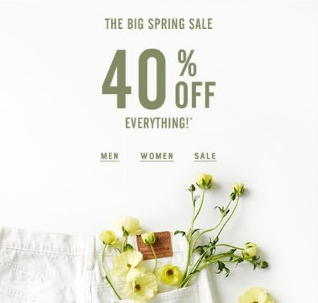 40% Off Everything from Lucky Brand Jeans