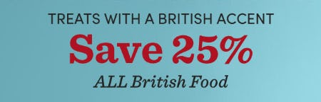 Save 25% on All British Food from Cost Plus World Market