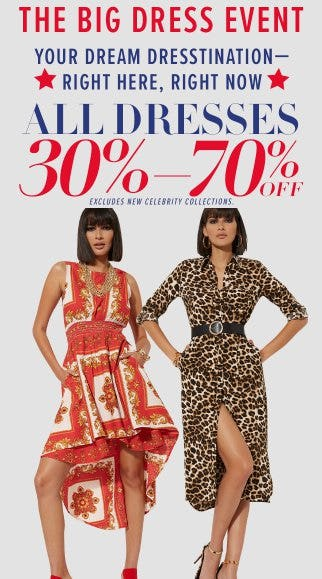 All Dresses 30% - 70% Off from New York & Company